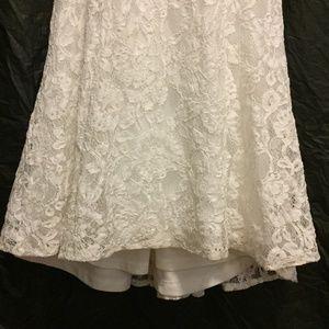 Lulu's Dresses - Lulus Amazing Lace Plunge Illusion Wedding Dress